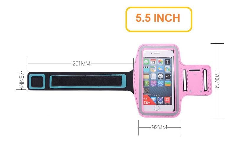 Đai đeo tay tập thể dục cho smartphone điện thoại iPhone 5.5 inch 5