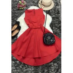 Đầm đỏ đuôi tôm cao cấp