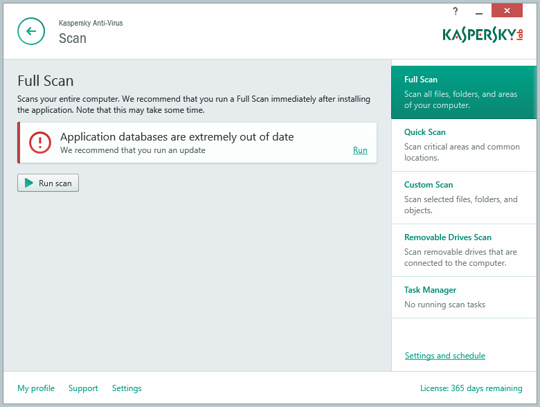 Phần mềm diệt virus Kaspersky Anti Virus 2017 1PC 1 năm 1