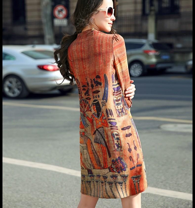 R001- Đầm voan họa tiết Ai Cập cao cấp ROSESHOP 2