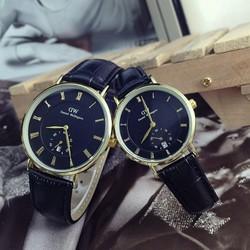 đồng hồ đôi dây da tốt cực đẹp chống nước 3atm