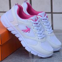 Giày thể thao nữ Sportmax SWG9931WP - Màu trắng phối hồng