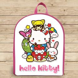 Balo hộp 2 màu in hình Hello Kitty - Size Lớn
