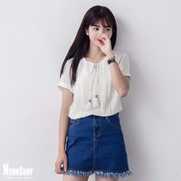 Áo kiểu nữ Hàn Quốc style Vintage - 2461 -Hàng Nhập