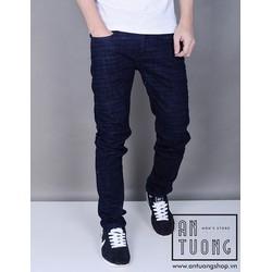 Quần Jeans nam ống ôm slim xanh đen DG