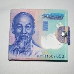 ví gập hình đồng tiền thời trang