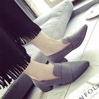 Giày mọi tây gót vuông thời thượng - LN605