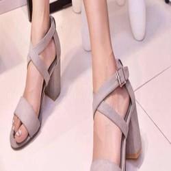 Giày cao gót quai ngang kiểu quai hậu đan chéo sành điệu GCN201