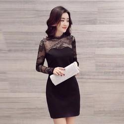 Đầm ôm phối ren thời trang