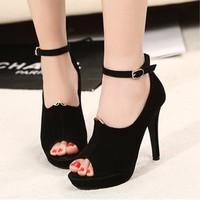 Giày cao gót hở mũi thời trang mới - LN602