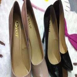 Giày cao gót nữ mũi nhọn Dior da bóng sang trọng GCN261
