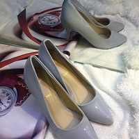 Giày Laboutin da bóng 5cm Cg14-