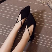 Giày gót vuông phong cách Retro - LN606