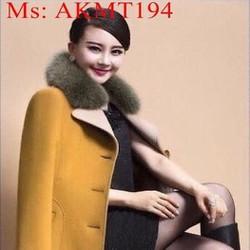 Áo khoác dạ thu đông cổ phối lông phong cách thời trang AKMT194
