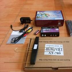 Đầu thu dvb t2 VJV HD 555 tặng anten khuếch đại trị giá 100k