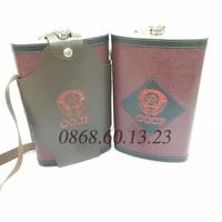 Bình Đựng Rượu Inox CCCP Bọc Da 118oz 3l5