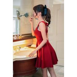 Đầm xòe  cột nơ lưng