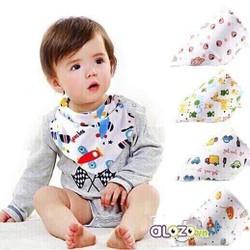 Combo 5 khăn yếm tam giác 44cm - 31 cm