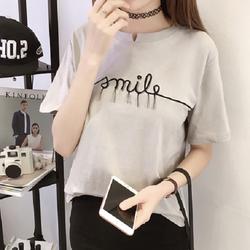 ÁO THUN CỔ XẺ V SMILE