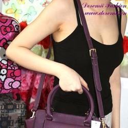 Túi xách da thời trang màu tím có dây đeo sành điệu TXT39