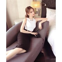 Bộ váy áo rời đẹpthiết kế đơn giản như Ngọc Trinh M31003