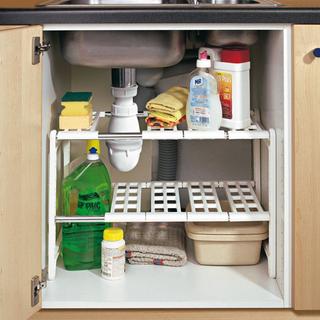 Kệ để đồ gầm bếp - Kệ xếp đồ nhà bếp 2 tầng dưới bồn rửa Mingxuan - KXDDNB2TDN001Tr-Z thumbnail