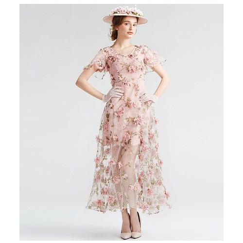 Đầm dạ hội đính HOA HỒNG xinh đẹp