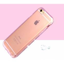 Ốp Lưng TPU IPhone 5, 5S, SE Viền Đính Đá Siêu Sang - Hồng Trong