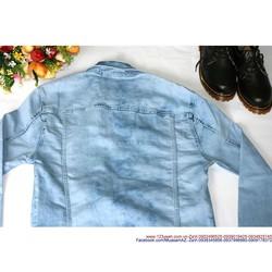 Áo khoác jean nam phong cách bụi bặm mạnh mẽ AKEN35