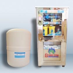 Máy lọc nước Greenline 7 lõi lọc có vỏ tủ không nhiễm từ.