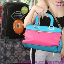 Túi xách da thời trang có dây đeo phối màu trẻ trung TXT38