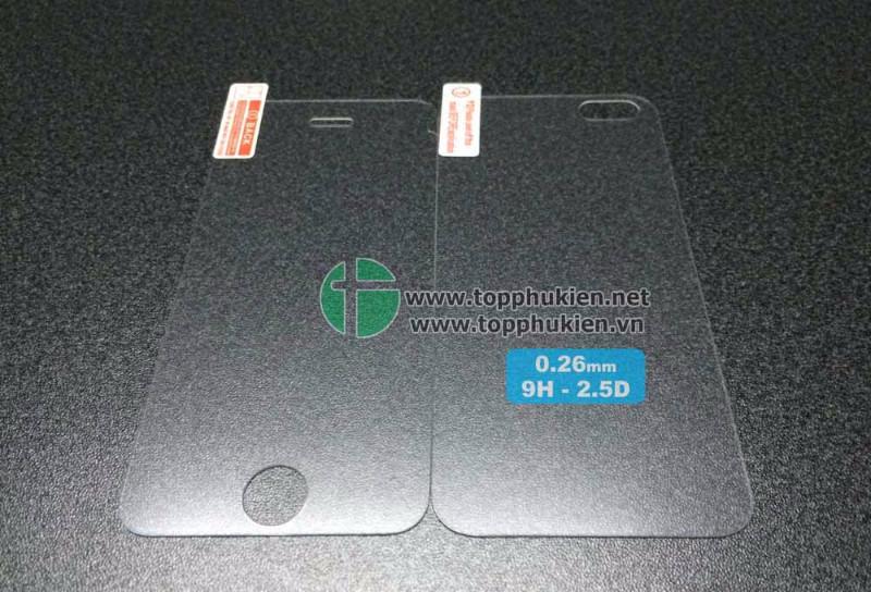 Miếng dán kính cường lực iPhone 5 5S 5C - mặt trước 1