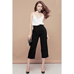 Set quần áo trẻ trungthiết kế quần suông đen lửng M31001