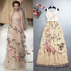 Đầm dạ hội THÊU CHỮ lộng lẫy