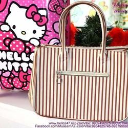 Túi xách da thời trang kẻ sọc sành điệu TXT46