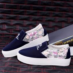 Giày mọi nữ phối hoa dễ thương - LN614