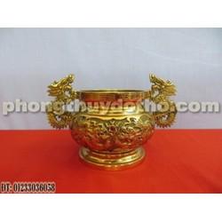 Bát hương tai rồng bằng đồng A128 ĐK 11 cm - Đồ phong thủy, đồ thờ