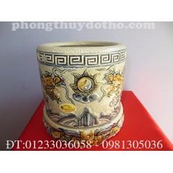 Bát hương + Đế gốm bát hương dạn cổ F22- Phong thủy đồ thờ