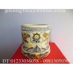 Bát hương + Đế gốm bát hương dạn cổ F18- Phong thủy đồ thờ