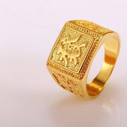 Nhẫn Nam Mạ Vàng 18k