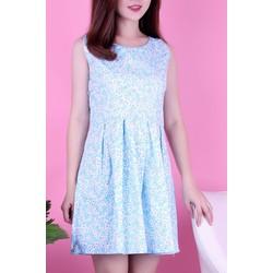 Đầm hoa nhí xanh