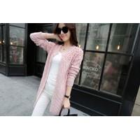 Áo khoác len phom dài đính ngọc