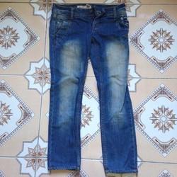 Quần jeans ống đứng ôm cao cấp