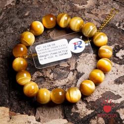 Vòng đá Mắt Hổ vàng 10mm đặc biệt cao cấp chuẩn 5A