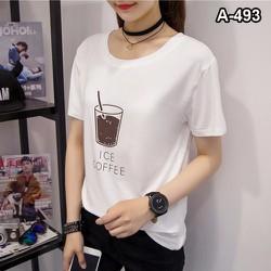 ÁO THUN NỮ FROM RỘNG LY COFFEE