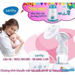 Máy hút sữa Sanity điện đơn AP-154AE TẶNG máy hâm sữa Kenjo