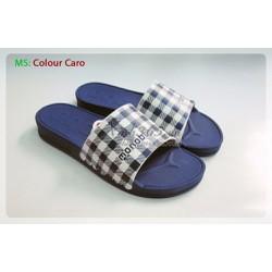 Dép Quai Ngang Thái lan - Colour Caro - Xanh quai xanh