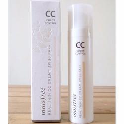 Kem Lót CC Cream Innisfree Real Skin Color Control Cream