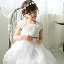 Đầm ren trắng dạ hội công chúa