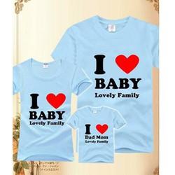 ÁO THUN I LOVE BABY